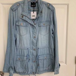 Nanette lepore jean jacket xl NWT